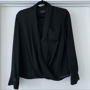 Topshop Black Blouse - Size 4 / Small